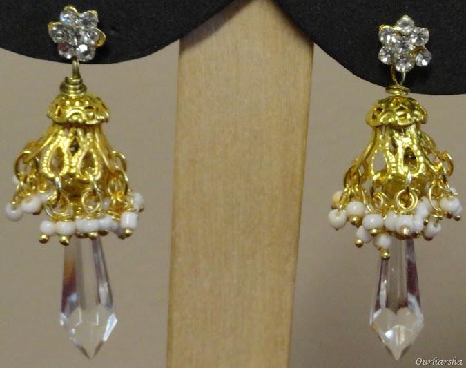 ::My Hobbies::: White Jimikki Earrings